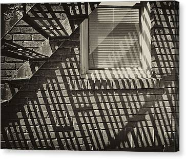 Stair Shadow Canvas Print by Tom Bush IV