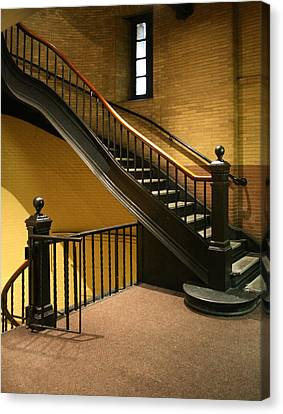 Staircase In The Boston Armory Canvas Print