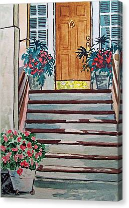 Stairs Sketchbook Project Down My Street Canvas Print by Irina Sztukowski