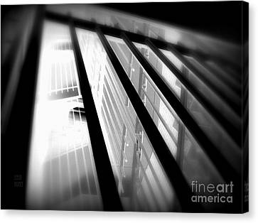 Stairway Black And White Canvas Print