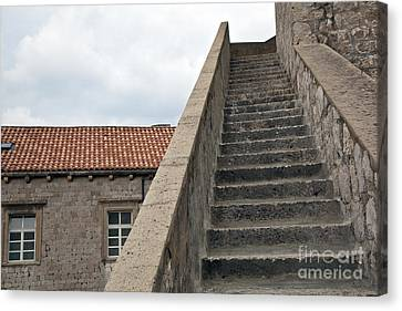 Stairway In Dubrovnik Canvas Print by Madeline Ellis