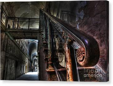 Stairway Of Terror - Eastern State Penitentiary Canvas Print by Lee Dos Santos