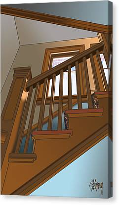 Stairway To 2nd Floor Canvas Print