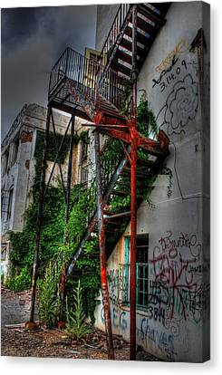 Stairway To Insanity Canvas Print by Heather  Boyd