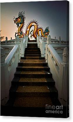 Stairway To The Dragon. Canvas Print by Phaitoon Chooti