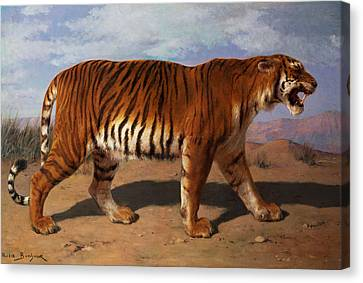 Tiger Canvas Print - Stalking Tiger by Rosa Bonheur