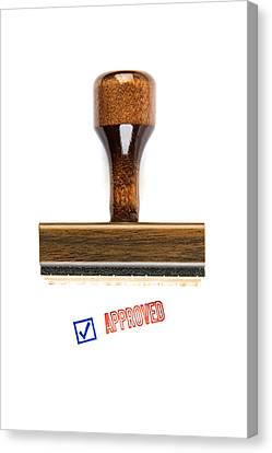 Stamp Of Approval Canvas Print by Robert Kirk