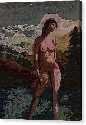 Standing Dark Polarized Canvas Print by Karen Kratzer