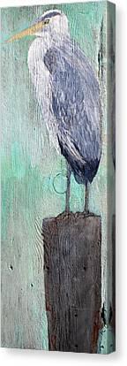 Standing Heron Canvas Print by Lisa Baack