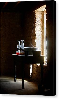 Canvas Print featuring the photograph Standing In The Shadow Of Time by Vicki Pelham