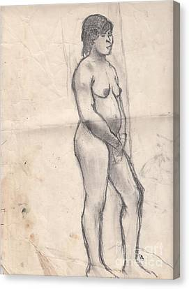 Standing Nude Canvas Print by Brian Francis Smith