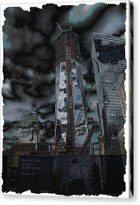 Standing Proud Wtc One Canvas Print by Anthony Chia-bradley