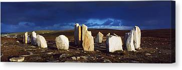 Standing Stones, Blacksod Point, Co Canvas Print by The Irish Image Collection