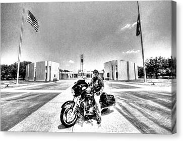 Standing Watch At The Houston National Cemetery Canvas Print by David Morefield