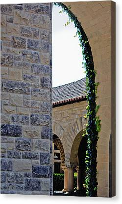 Stanford Memorial Court Arch Canvas Print by Linda Dunn