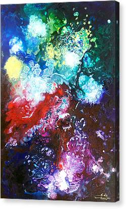 Star Clusters Canvas Print by Sally Trace