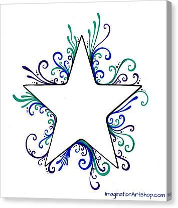 Star Flair Canvas Print by Mandy Shupp