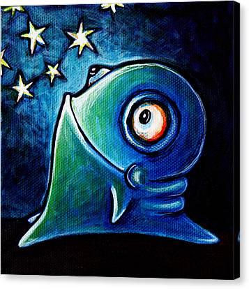 Star Gazin' Glob Canvas Print by Leanne Wilkes