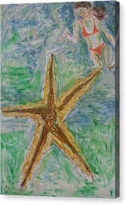 Star Canvas Print by Iris Gill