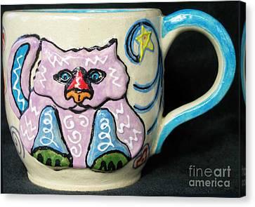 Star Kitty Mug Canvas Print by Joyce Jackson