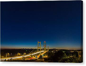 Canvas Print featuring the photograph Star Night Over The Narrows by Ken Stanback
