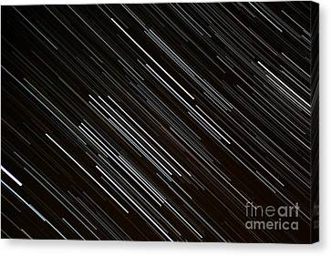 Star Trails At The Equator Canvas Print