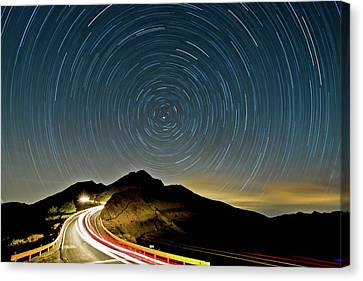 Star Trails Canvas Print by Higrace Photo