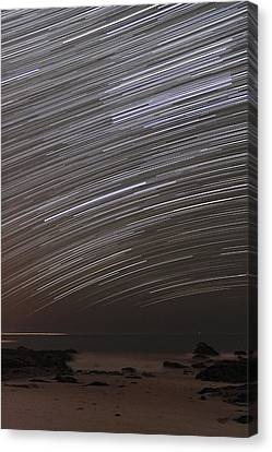 Star Trails Canvas Print by Laurent Laveder