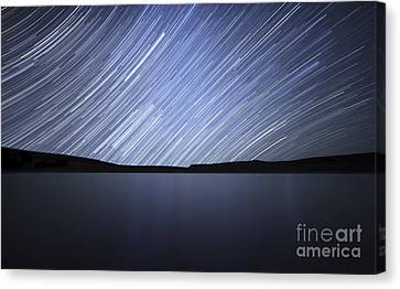 Star Trails Of The Celestial Equator Canvas Print by Luis Argerich