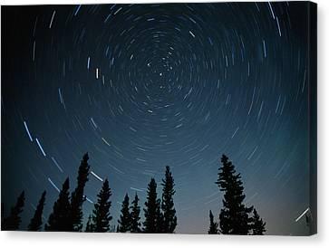 Star Trails, Sandilands Provincial Canvas Print by Mike Grandmailson