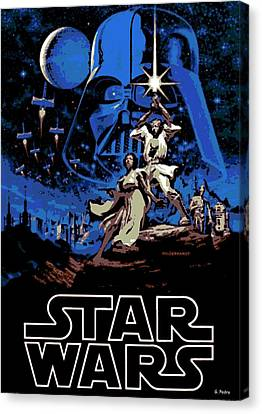 Star Wars Poster Canvas Print by George Pedro