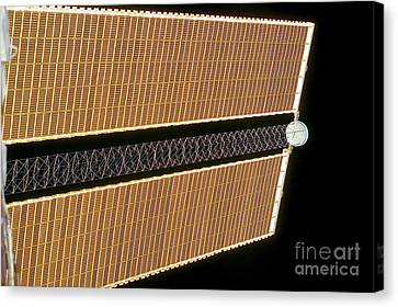 Starboard Solar Array Wing Panel Canvas Print by Stocktrek Images