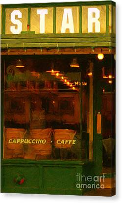 Starbucks Coffee House Canvas Print by Wingsdomain Art and Photography