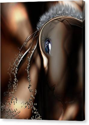 Stare Back Canvas Print by Steve Sperry