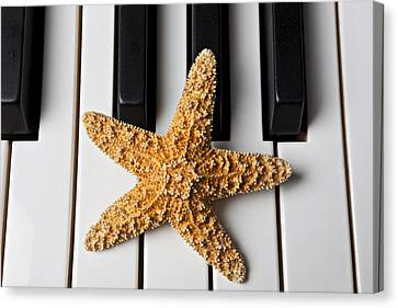 Starfish Piano Canvas Print by Garry Gay
