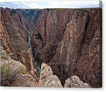 Staring Into The Abyss Canvas Print by Adam Pender