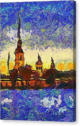 Starred Saint Petersburg Canvas Print by Yury Malkov