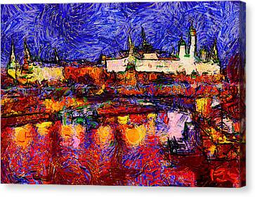Starry Moscow Canvas Print