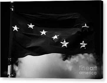 Starry Plough Flag Irish National Liberation Army Inla Ireland Canvas Print by Joe Fox