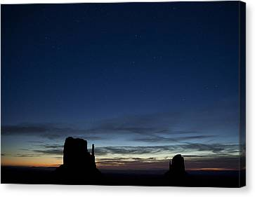 Starry Skies In The West Canvas Print by Andrew Soundarajan