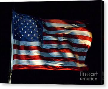 Stars And Stripes At Night Canvas Print
