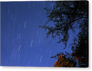 Canvas Print featuring the photograph Stars Falling by Kay Lovingood