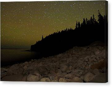 Stars Over Otter Cliffs Canvas Print by Brent L Ander