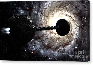 Starship Inspired By The Novels Canvas Print by Rhys Taylor