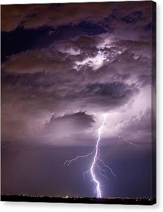 The Lightning Man Canvas Print - Starting High by James BO  Insogna
