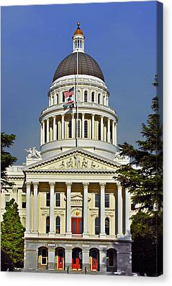 State Capitol Building Sacramento California Canvas Print by Christine Till
