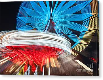 State Fair Rides At Night II Canvas Print by Clarence Holmes