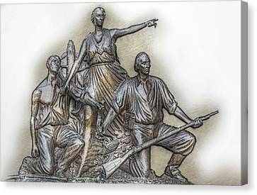 State Of Alabama Monument At Gettysburg Canvas Print by Randy Steele