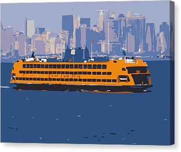 Staten Island Ferry Color 16 Canvas Print by Scott Kelley