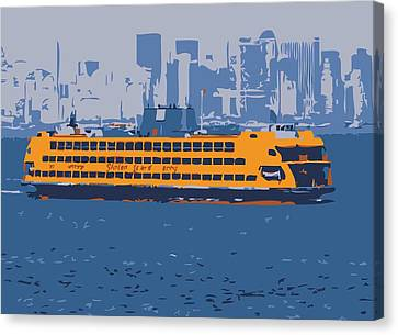 Staten Island Ferry Color 6 Canvas Print by Scott Kelley